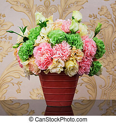 Carnation bouquet - Close up colorful carnation bouquet in...