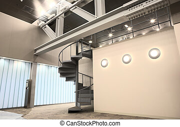 Interior of a new office - Empty entrance hall to office...