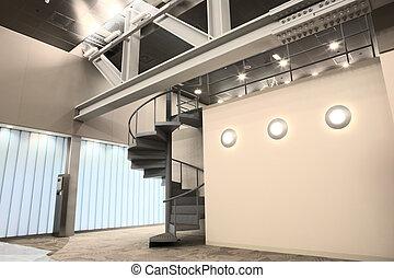 interno, nuovo, ufficio