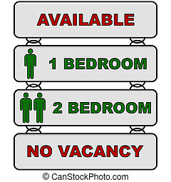 Rental information - Glossy illustration showing the...