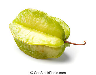 Star fruit - Close up Thai star fruit isolated on white -...
