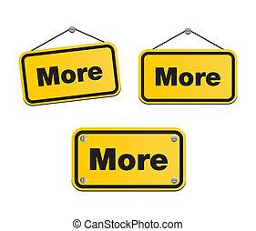 more - yellow signs - suitable for user interface