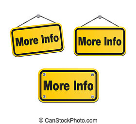 more info - yellow signs - suitable for user interface