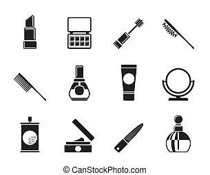 beauty, cosmetic and make-up icons