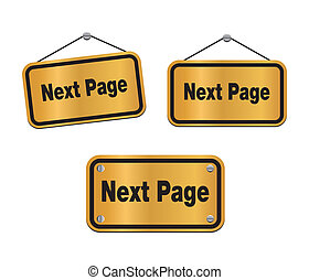 next page - bronze signs - suitable for user interface