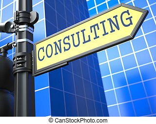 Consulting on Yellow Roadsign. - Consulting on Yellow...