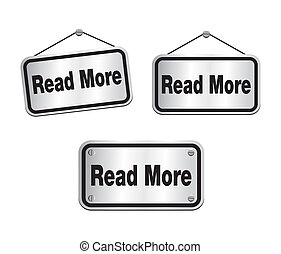 read more - silver signs - suitable for user interface