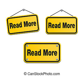 read more - yellow signs - suitable for user interface