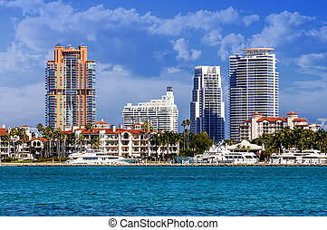 Miami south beachh, Florise, USA - Miami south beach, view...