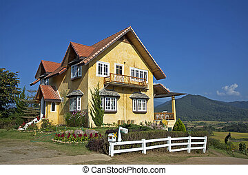 Yellow House in Thailand