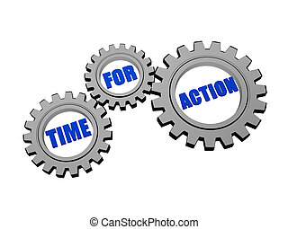 time for action in silver grey gears - time for action -...