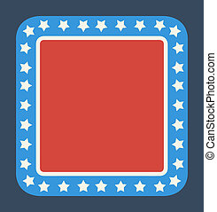 Blank American flag button