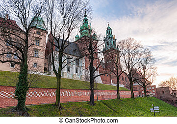 Wawel cathedral in Krakow - Wawel cathedral at the entrance...