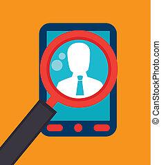 digital design over orange background vector illustration