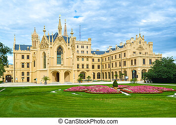 Lednice Castle in South Moravia in the Czech Republic