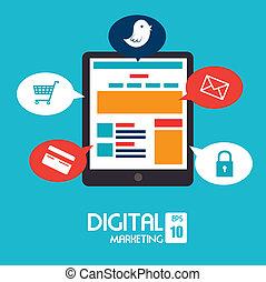 digital design over blue background vector illustration