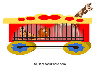 Circus Wagon with Animals