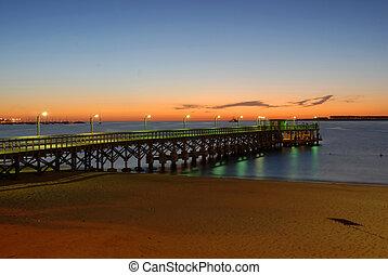 Punta,  del, 浜, 桟橋,  Este
