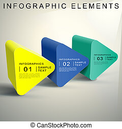 abstract 3d Triangular prism infographics - vector abstract...