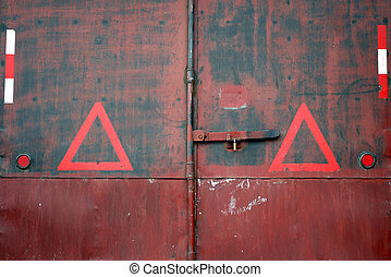 Cargo container - back door of a cargo container
