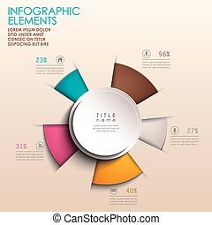 abstract 3d origami paper infographics - realistic vector...