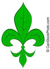 fleur de lis - Fleur de lis with leaf pattern