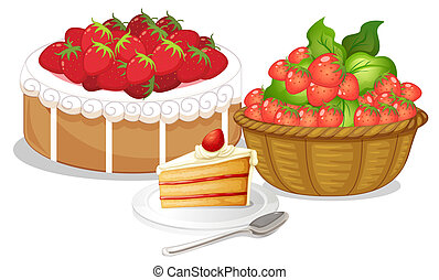 Sweet strawberries - Illustration of the sweet strawberries...