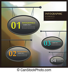 abstract 3d signboard infographics - realistic vector...