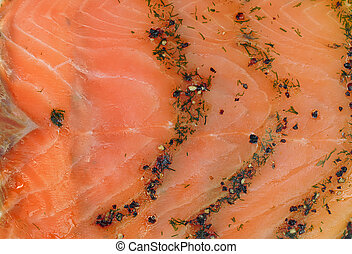 Smoked salmon wallpaper - Smoked salmon background with...