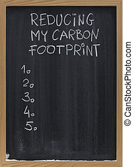 reducing carbon footprint on blackboard - reducing my carbon...