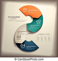 abstratos, 3D, papel, infographics