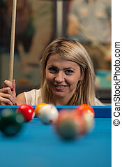 Concentration On Ball - Portrait Of A Young Female Model...