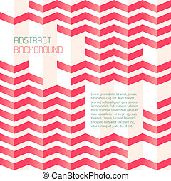 Abstract geometric background with zigzags. Can be used in...