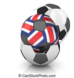 Costa rica soccer ball isolated white background