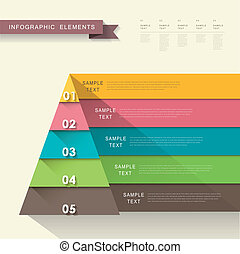 abstract pyramid infographics - vector abstract flat design...