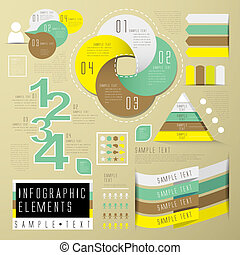 abstract infographics - vector abstract flat design...