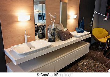 Beautiful Modern Classical  Bathroom in Luxury New Home
