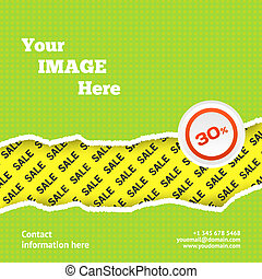 Sale design background with space for you image