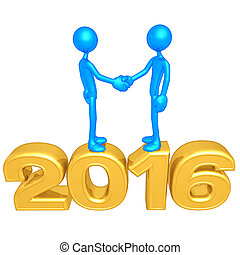Handshake On The Year