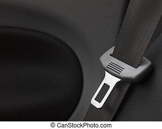 coche, asiento, cinturón