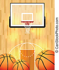 Basketball Background - An illustration of a basketball...