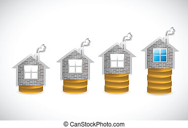real estate business graph illustration design