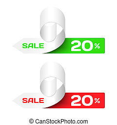 Discount labels. Set of Colorful  Sample stickers