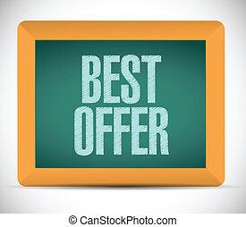 best offer message illustration design