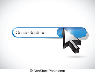 online booking search bar illustration design over a white...