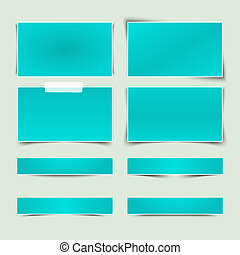 Set of banners with different shadows. Vector illustration...