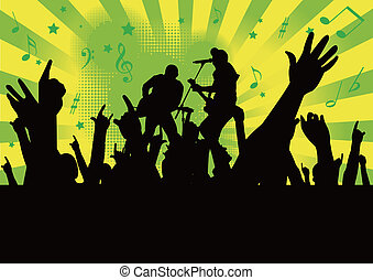 people hands up  at a concert