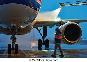 Winter at the airport - Winter time at the airport Deicing...