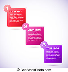 Conceptual vector illustration of colorful cubes with arrows...