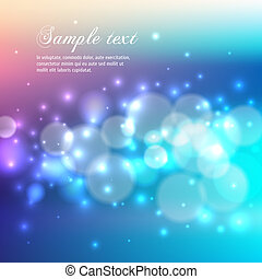 Blue bokeh abstract light background. Vector illustration...